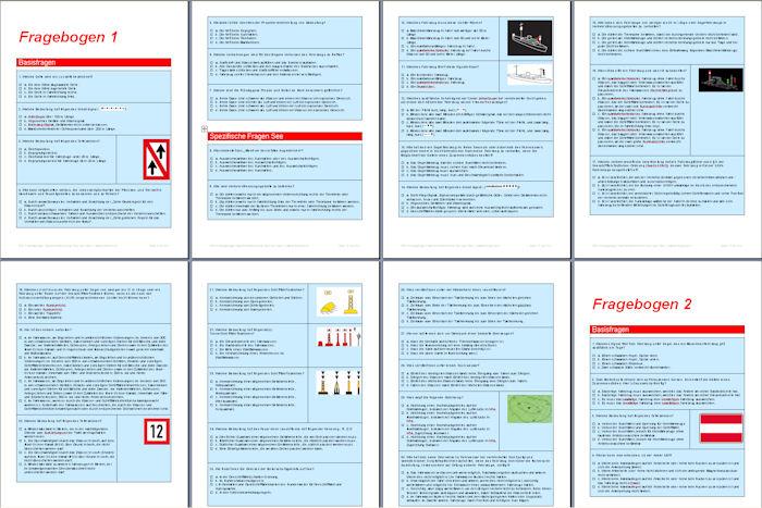 Prüfungsbögen Sportbootführerschein See - Fragebögen als PDF Download