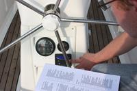 Checkliste Yachtübernahme im Einsatz auf eine Yachtcharter-Bavaria Charteryacht