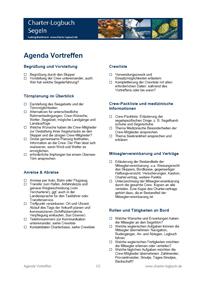 Agenda Vortreffen Segelurlaub: Die Skipper-Checkliste zur Vorbereitung Segeltörn als Roter Faden