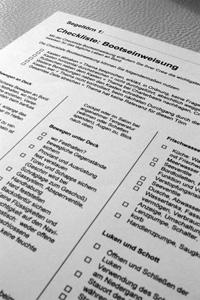 Checkliste Bootseinweisung